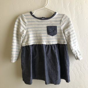Baby girl long sleeve denim dress